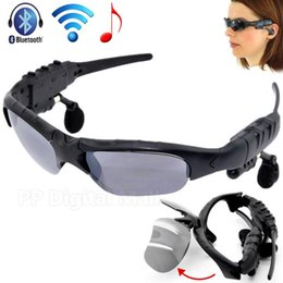 Wholesale New Sunglasses Bluetooth Headset Headphones Music Earphone camera video For iphone S C Samsung S3 S4 S5 Note PC Tablet