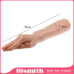 Wholesale Hand Anal Toys - 36*7.6cm Large Female Masturbation Simulation Dildo Fake Penis Arm Hand Vaginal Stimulator Anal Backyard Masturbation Sex Toys for Women