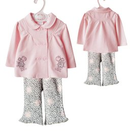Wholesale Baby Girl Leopard Pink - New Spring Baby Girl Clothes Set Girl Top+Leopard Pant 2 Pieces 100% Cotton Baby Clothing Good Quality for 0~2 years baby
