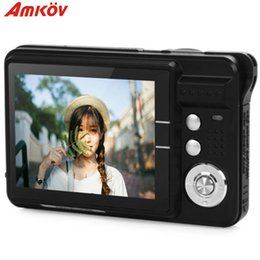 Wholesale Red Video Format - AMKO CDC3 2.7 Inch TFT HD Screen CMOS 3.0MP Anti-shake 1080P Digital Video Camera with 8X Digital Zoom 1300w Pixel