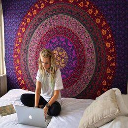 Argentina Venta caliente Bohemia Mandala Tapiz Gobelin Colgante Pared Alfombra Impreso Poliéster Decoración Mural Hippie Tabel Paño Colcha 148x200 cm cheap aubusson tapestries Suministro