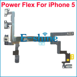 Wholesale Wholesale Cellphone Parts - Power Flex Cable For iPhone 5 Durable Button Switch On Off Cellphone Replacement Repair Parts New