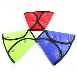 Wholesale Triangles Safety Wholesale - Fashion Triangle Color Children Safety Belt Holder Special Protection Kids Belt Sleeve Auto Seat Protective Accessories Promotion SK559