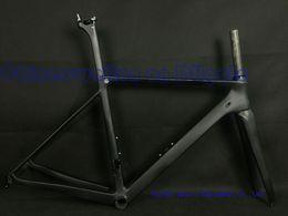 Wholesale Road Bike 59cm - Two year warranty.accept customer logo,DIY paint road carbon bike frame T1000 UD weave frameset racing bicycle frames BB86 black matte