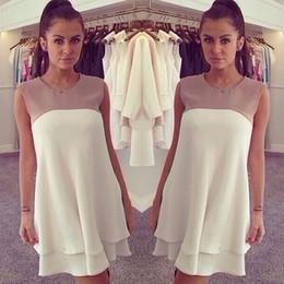 Wholesale Sleeveless Vests Summer Ladies - 2015 Summer Blouse Sleeveless Women's Chiffon Peplum Casual Blouse Vest Long Back T Shirt for Women Lady Dress Clothing Newest F050