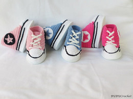 Wholesale Hand Made Kids Shoes - Drop shipping Crochet toddler shoes,soft baby shoes booties,shower gift,kids sneaker,hand made infant walking Casual shoes.8pairs 16pcs