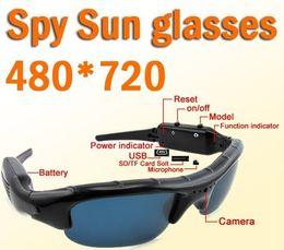 Wholesale Glass Spy Video Camera - Spy Glasses camera Multi-functional Sunglasses DVR With Hidden Camera 720P HD Vedio Sunglasses HD Mini DVR Video Recorder Sunglasses