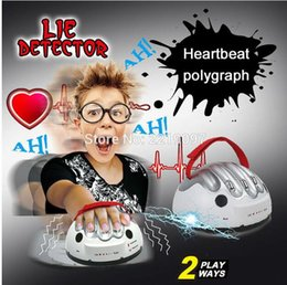 Wholesale Micro Science - Tricky Funny Adjustable Adult Polygraph Test Micro Electric Shock Lie Detector Shocking Liar Truth Party Game Consoles Toy Gifts