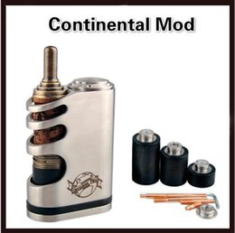 Wholesale Cheapest Ecig Mods - 1:1 clone Cheapest price box mod ecig continental mod stainless steel color fit 26650 battery white box package in 2015