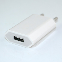 Wholesale Iphone 4s Mobilephone - Wholesale-1Pc New White High Quality EU plug AC Power USB Wall Charger Adapter For mobilephone iPhone 5 4 4S 3GS iPad Free Shipping