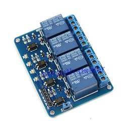 Wholesale Relay Module For Arduino Pic - Blue 4-Channel 5V Relay Module Low Strigger For Arduino PIC ARM DSP AVR MSP430