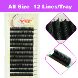 Wholesale Eyelash Extension D Curl - 3D Volume Natural Eyelash Extension False Eyelashes Individual Eyelashes Makeup Tool Korea Fiber 4 Trays B C D Curl 8-15mm