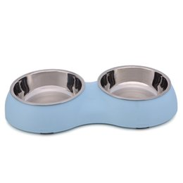 Wholesale Stainless Steel Dog Bowl Wholesale - Manufacturers selling pet product silicone stainless steel bowl A bowl of dual-use spill-proof antiskid dog bowl