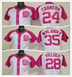 Wholesale Miguel Cabrera Tigers - NWT Miguel Cabrera Women Jersey Pink Detroit Tigers Jersey Baseball Jersey Ladies Prince Fielder Women Jersey Justin Verlander
