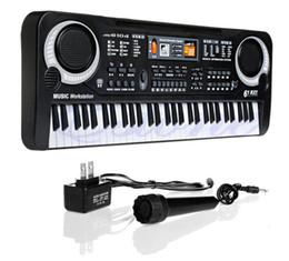 Wholesale Free Music Keyboard - Hot 61 Keys Digital Music Electronic Keyboard Key Board Gift Electric Piano Gift New Free Shipping