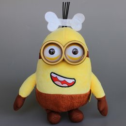 Wholesale Dolls Ice Age - Cartoon Moive Despicable Me 3D Eyes Minions Ice Age Minion Brown Soft Plush Doll Stuffed Toy 10'' Gift 50pcs