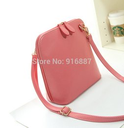 Wholesale Trend Shell Bag - Wholesale-Women messenger bags 2015 The new trend of the fashion small shell package Candy color One shoulder aslant women bag