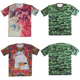 Wholesale Cucumber Cartoon - w20151222 Couture 2015 Summer New 3D T Shirt Women Men Brand Design Tops Fruit Green Cucumber Cartoon Print tshirt Big Yards S-6XL Clothes