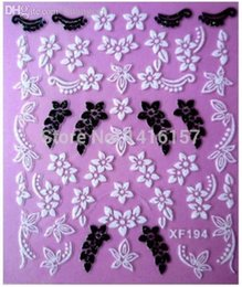 Wholesale Variety Nail Stickers - Wholesale-Min.order is $10 (mix order) Fashion 3D Nail Art Stickers Decals A Variety Of Styles To Choose Manicure Accessories XF194