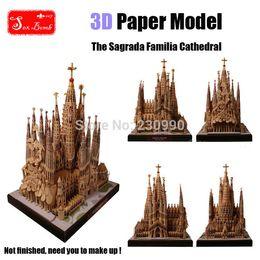 Wholesale Sagrada Familia - Wholesale-2015 New The Sagrada Familia Cathedral 3D Paper models DIY Original design Assembled High Simulation Building Model toys