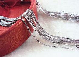 2019 cadena cerrada de strass Venta al por mayor hermoso collar colgante Fitting 925 caja de cadena de plata