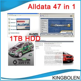 Wholesale Alldata Heavy Trucks - 2017 47in1 alldata and mitchell software alldata 10.53+mitchell on demand 2014+ATSG+ETKA+vivid+ELSA+med& heavy truck 1tb hdd DHL Free