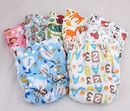 Wholesale Cloth Diapers Without Inserts - 2015 New Design 10pcs Cartoon Prints Newborn Cloth Diapers Washable Without Insert AnAnbaby Nappies