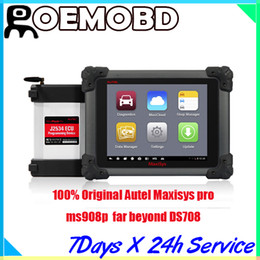 Wholesale Bmw Programming - Wholesale 100% Original AUTEL MaxiSYS Pro MS908 MS908P with the J-2534 reprogramming box online programming DS708 with DHL free