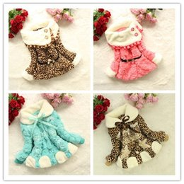 Wholesale Baby Fleece Hoodies - kids Girls Leopard faux fur coat fox fleece warm jacket children big collar baby Autumn Winter hoodies outerwear