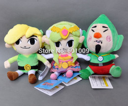 "Wholesale Tingling Toy - Free Shipping 3PCS New Legend of Zelda Plush Doll Stuffed Toy Waker Link Princess Wind Waker Tingle 7-7.5"""