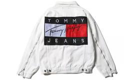 Wholesale Vintage Patchwork Coat - TOOMYY Men Coats hip hop MA1 Pablo Jackets KANYE WEST Brand New streetwear couple Vintage Denim Patch Designs Jeans Jacket Plus Size