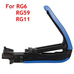 Wholesale Connector Rg6 - High Quality RG6 RG11 RG59 Coaxial Cable Crimper Compression Tool For F Connector CATV Satellite Free Shipping