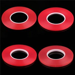 Wholesale 2mm Double Tape - 1mm 2mm 3mm 4mm 5mm Transparent Clear Adhesive Transparent Double side Adhesive Tape Heat Resistant Universal cellphone repair sticker red