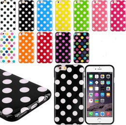Wholesale Iphone 4s Tpu Dot - For Iphone 6 6 plus 4S 5S 5C Samsung Galaxy S6 S5 S4 Note 4 Candy Polka dots Dot Colorful TPU Gel Silicone back Skin cases cover case