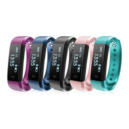 Wholesale Cheap Sleep - Cheap ID115 Smart Bracelet Fitness Tracker Tracking Step Counter Activity Monitor Band Alarm Clock 115 Smart Wristband PK FITBIT TW64