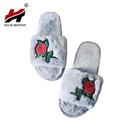 Wholesale Resistance Shoes - 2017 Autumn Winter Bedroom Slippers Luxury Men Women Indoor Plush Warm Comfortable Flat Heel Shoes Home Flats Slip Resistance
