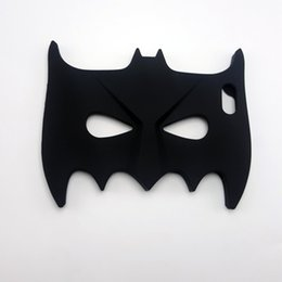 Wholesale Iphone5 Batman Cases - 3D Cool Big Hero Batman Eyeshade Soft Silicone Chirstmas Cover Back Phone Cases for Iphone5 5s 6 6s 6plus 7 7plus
