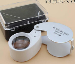 Wholesale Magnifying Glass Free - Best price 200pcs 40x 25mm Glass Magnifying Jeweler Magnifier Eye Jewelry Loupe Loop tz Lights Led Light DHL FREE Shipping