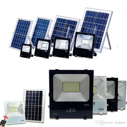 Wholesale Wholesale Portable Solar Panels - High Quality 30W 50W 100W Solar Powered Panel Led Remote control Flood Lights outdoor floodlight Garden outdoor Street light