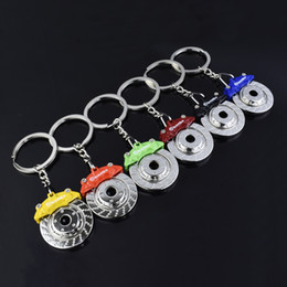 Wholesale Automobile Keys - New Automobile Brake Disc Brake Pad Keychain Key Ring Car Auto Fashion Accessories Bag Hangs 170886