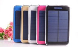 Wholesale Camera Pc Portable - 20000mAh Solar Charger And Battery Solar Panel Portable Power Bank For Cell Phone Laptop Camera MP4 With Flashlight Shockpr 10 Pcs