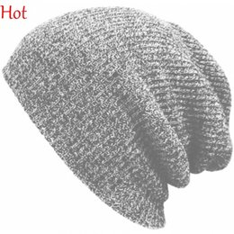 Wholesale Army Fitted Hats - 2015 Hot Winter Beanies Solid Color Hats Unisex Plain Warm Soft Beanie Skull Knitted Cap Hip-hop Hat Touca Gorro Caps Men Women SV024880