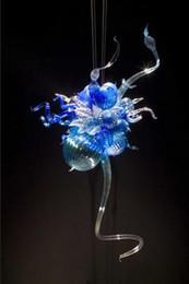 26 colgante de luz led Rebajas 100% boca soplada CE UL borosilicato cristal de Murano Dale Chihuly arte fino decorativo bombilla led lámpara