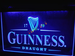 Wholesale Vintage Disco Lights - LE002-b Guinness Vintage Logos Beer Bar Neon Light Sign home decor shop crafts led sign