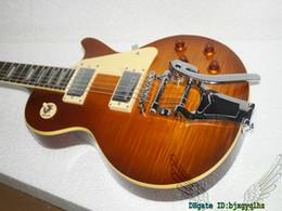 Wholesale Honey Burst Custom Guitar - Honey Burst Custom Electric Guitar With Tremolo New Arrival Wholesale Guitars HOT