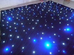 Wholesale Led Lighting Drapes - Wholesale-LED light effects large star Curtain 4m*6m star colth stage drapes Blue-White color with lighting controller LED Vision Curtain