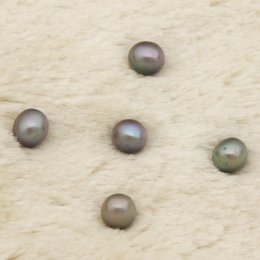 blue jewelery Canada - Free Shipping Rice Cultured Freshwater Pearl Jewelery Gray Pink White 6-7mm Round AAAAA Pearl Loose Pads DIY Production