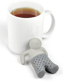 Wholesale Tea Infusers Strainers Wholesale - Teapot cute Mr Tea Infuser Tea Strainer Coffee silicone