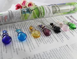 Wholesale Murano Glass Perfume Bottles - Murano Glass Perfume Necklace Small Heart,murano glass essential oil bottle necklace,scent necklace,perfume bottle necklace