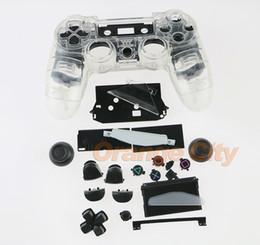 Transparentes gehäuse online-Für Sony Playstatios 4 Transparente Gehäuseersatzteile Für PS4-Controller Löschen Sie die Gehäuseschaltflächen